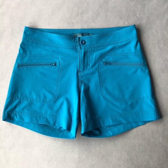 Prana Lena Shorts Size 2 ~ Mosaic Blue